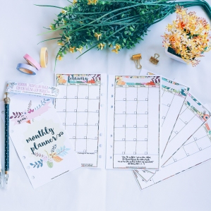 INSERT MONTHLY PLANNER (DATELESS) PERSONAL SIZE