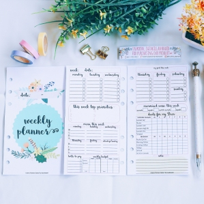 INSERT WEEKLY PLANNER PERSONAL SIZE
